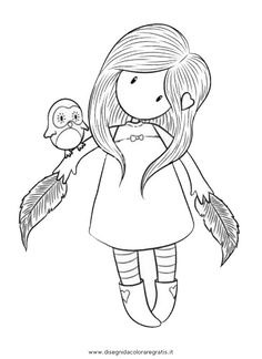 little gorjuss Colouring Pages