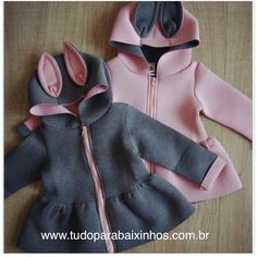 Qianquhui 2017 New Jacket For Girls Autumn Animal Rabbit Design Cotton Zipper Spring Hooded Baby Girl Coat Children Jackets Baby Outfits, Baby Girl Fashion, Kids Fashion, Kids Coats Girls, Baby Coat, Dresses Kids Girl, Jacket Dress, Kids Wear, Baby Dress