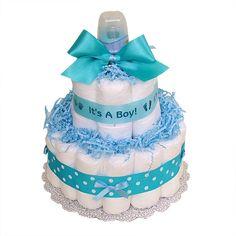 boy diaper cake | It's a Boy Diaper Cake - $55.00 : Diaper Cakes Mall, Unique Baby ...