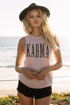 Karma Coachella Tank Coconut - Spiritual Gangster - 3
