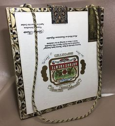 CUSTOM DESIGNED CIGAR BOX PURSE HANDBAG Signed & Numbered Anne Reeves ANA  | eBay