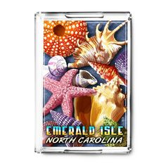 Emerald (Green) Isle, North Carolina - Shells - LP Artwork (Acrylic Serving Tray)