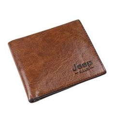 64dfb4e080bf JEEP BULUO Man s Money Clips Pu Wallets For Men Fashion Card Case Wallet