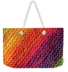 Rainbow Colors And Knitting Passion Weekender Tote Bag x by Jenny Rainbow. The tote bag includes cotton rope handle for easy carrying on your shoulder. All totes are available for worldwide shipping and include a money-back guarantee. Weekender Tote, Cotton Rope, Poplin Fabric, Bag Sale, Rainbow Colors, Tote Bags, Totes, Handle, Passion