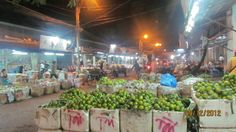 vựa cam, chợ trái cây tại Rạch Giá