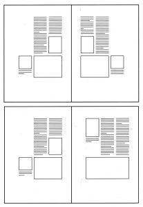 Disposizione delle colonne in gabbia simmetrica e asimmetrica Graphic Design Layouts, Book Design Layout, Graphic Design Posters, Coffee Table Book Layout, Booklet Layout, Book Design Inspiration, Magazine Layout Design, Grid Layouts, Typography Layout