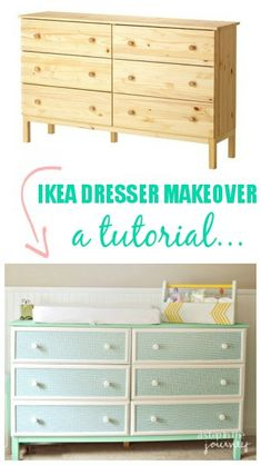 IKEA Hack: Tarva dresser makeove a full tutorial...you can do it too!