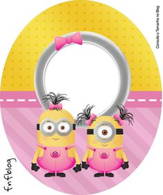 Tubete Oval Minions para Meninas