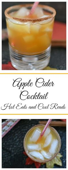 Packed full of delicious fall flavors and a cinnamon and sugar rimmed glass? Total perfection! Apple Cider Cocktail Recipe from Hot Eats and Cool Reads