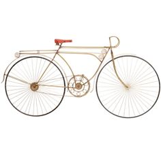 Curtis Jere Bicycle Wall Sculpture
