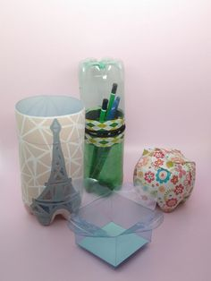 Boxes made with recycled plastic bottles