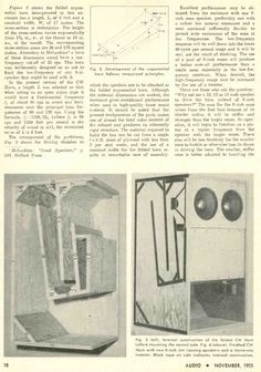 retro vintage modern hi-fi: Constant Width Folded Exponential Bass Horn - 1955