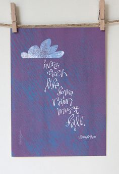 Longfellow Quote  Giclee by Albee on Etsy, $10.00