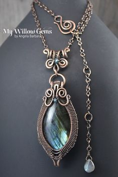 https://flic.kr/p/DHkecM | Wire Wrapped Labradorite Necklace | Copper Wire…