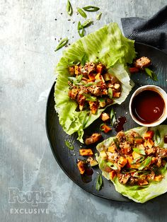 Teriyaki Chicken Lettuce Cups Recipe from Catch Restaurant in NYC - Great Ideas : People.com