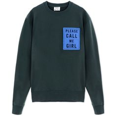 Acne Studios Sweatshirt ($255) ❤ liked on Polyvore featuring mens, men's clothing and dark green