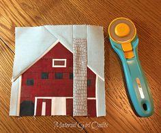 Indiana Bicentennial Barn Quilt - Hendricks County Barn by Amanda Castor of Material Girl Quilts