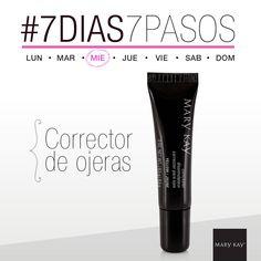 7 días de la semana, 7 pasos para un look perfecto. #Miércoles #7Días7Pasos #CorrectorDeOjeras