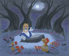 Mary Blair concept artwork for Disney's Alice in Wonderland, 1951