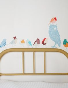 Twitters Fabric Wallsticker from Rose & Grey - wondering if I could paint something similar straight onto the wall...