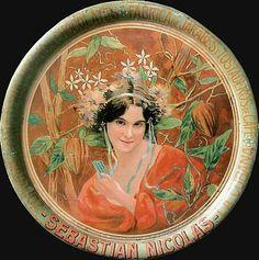 Sébastien Nicolas chocolat  L'envolée Art nouveau de cette fresque, allie à merveille, les cabosses au feuillage dansant