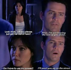 Charmed Season 1 ... when Andy discovered Prue was a witch ...
