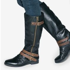 Shoemint Black Riding Boots