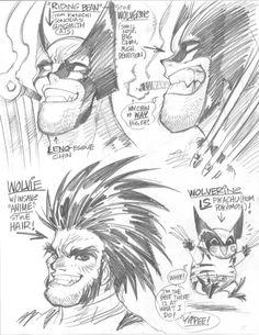 Wolverine as drawn by Adam Warren