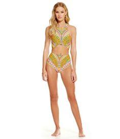 33f2fbf9a7a0d Trina Turk Capri High-Neck One-Piece  Dillards. Eliane Freitas · bathing  suits