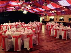 Chair Covers and sashes at Wookey Hole