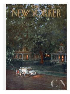 JUNE  The New Yorker Cover - August 24, 1957 Poster Print by Edna Eicke at the Condé Nast Collection