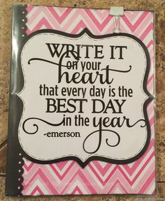 Write it on your heart that every day is the best day in the year. Calendar 2015 #Simplybysarah