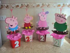Fiestas Peppa Pig, Cumple Peppa Pig, Pig Party, Dinosaur Party, Aniversario Peppa Pig, George Pig, Birthday Centerpieces, Pe Ppa, 2nd Birthday Parties