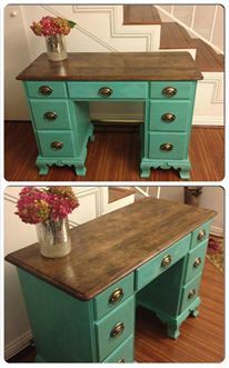 Two Toned Desk  SOLD  can do custom order by SuzieAnnePlace, $275.00