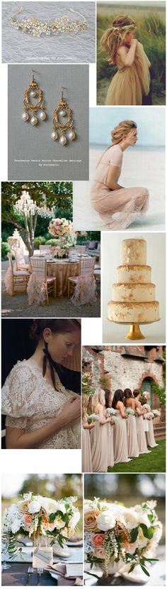 Champagne, Gold And Blush Wedding