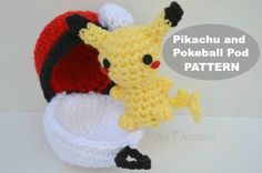 Pikachu and Pokeball Pod pattern » Ami Amour