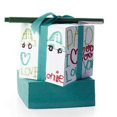 Decorated Paper Cube from Martha Stewart  TACO DE NOTAS PARA LOS ABUELOS