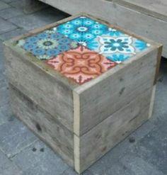 Steigerhout bank + tafeltje