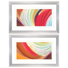 Wind Waves 2 Piece Framed Graphic Art Set