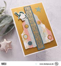 schöne Weihnachtskarte mit dem Januarkit und Klartext Stempeln | von Maria für www.danipeuss.de #danipeuss #scrapbooking #memorykeeping #papercrafting #basteln Project Life, Mini, Fur, Scrapbook, Inspiration, Cards, Paper, Beautiful Christmas Cards, Real Talk