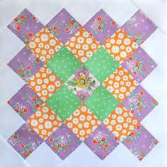 Great Granny Along Light Purple Block by Bitty Bits & Pieces-Kim Walus, via Flickr