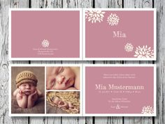 Individuelle (Klapp)Geburtskarte | Mia von for magic moments auf DaWanda.com