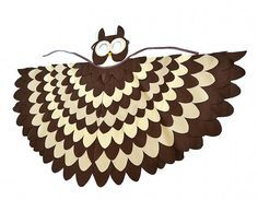 Kids Owl Costume Children Bird Wings and Mask Dress door BHBKidstyle
