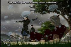 this was an epic moment.....especially when Zuko was surprised at just how powerful she was