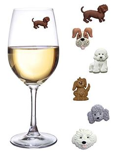 #Sponsored Puppy Wine Glass Identifiers.