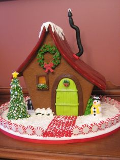 Asymetrical gingerbread house