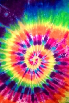 I loved to tye dye