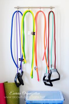 Put Exercise Equipment on the Wall - GoodHousekeeping.com