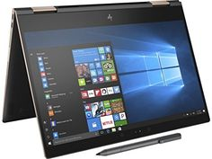 "HP Spectre x360-13t Quad Core(8th Gen Intel i7-8550U, 16GB RAM, 512GB PCIe NVMe SSD, IPS micro-edge Touchscreen Corning Gorilla, Windows 10 Ink)Bang & Olufsen 13.3"" 2-in-1 Convertible- Dark Ash"