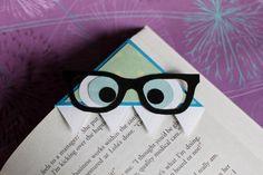 Nerdy Monster Bookmark. I really do love this idea!